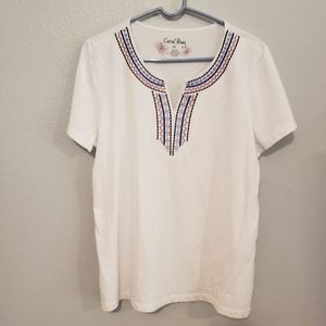 Coral Bay Red,white and Blue Blouse